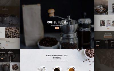 Contoh website coffee shop modern dan elegant